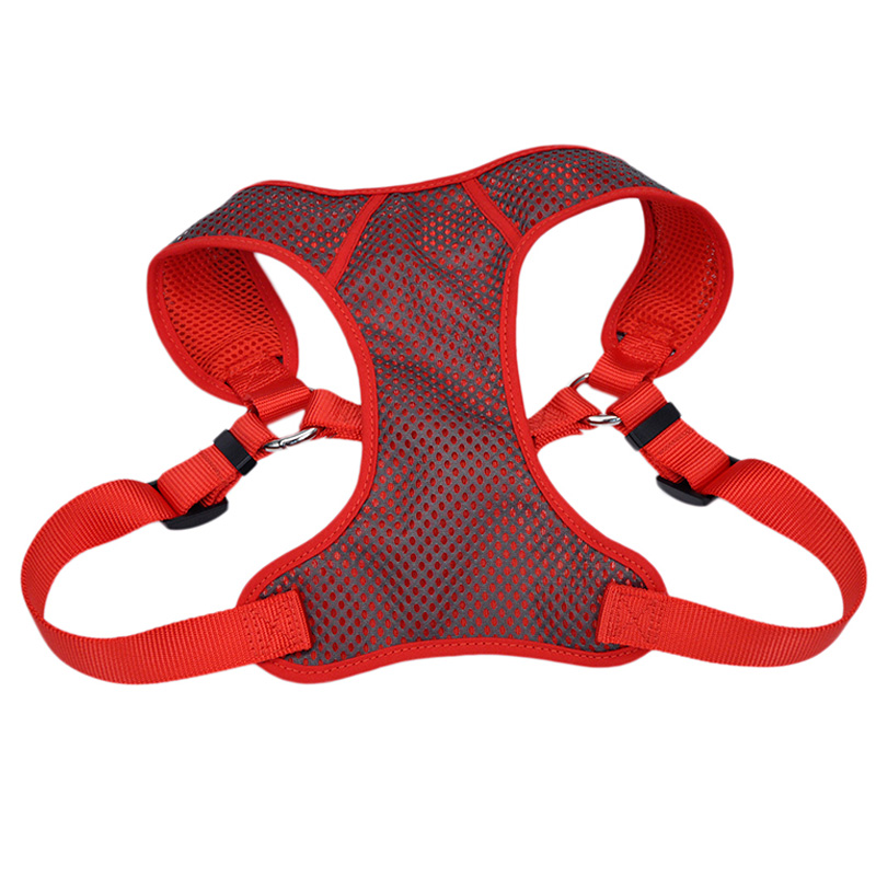 Coastal Comfort Soft Sport Wrap Adjustable Dog Harness Grey with Red  I006241b