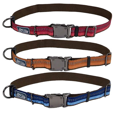 The Coastal® K9 Explorer® Reflective Adjustable Dog Collar I006374b