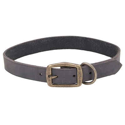 "Coastal® Circle T® Rustic Leather Town Dog Collar Slate Grey 1"" I006544"