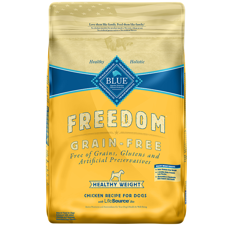 Blue Buffalo BLUE Freedom Grain-Free Healthy Weight Chicken Dog Food I006561b