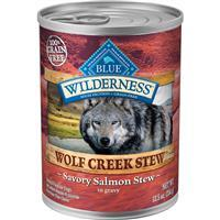 Blue Wilderness Wolf Creek Stew Chunky Savory Salmon Stew in Gravy 12.5 oz. I006565
