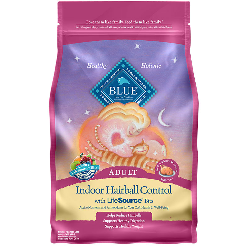 Blue Buffalo BLUE™ Indoor Hariball Control Chicken & Brown Rice Cat Food 7 lbs. I006588