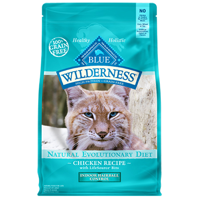 BLUE Wilderness® Indoor Hairball Control Chicken Recipe Cat Food 5 lb.  I006590