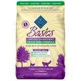 Blue Buffalo BLUE Basics® Grain-Free Indoor Turkey & Potato Cat Food 11 lbs. I006724