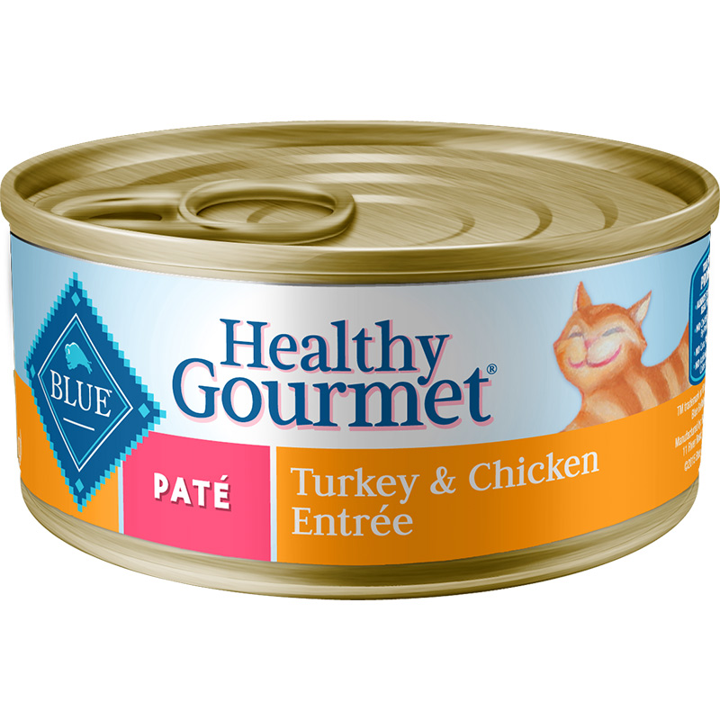 Blue Buffalo Healthy Gourmet Pate Turkey & Chicken Entree for Cats 5.5 oz. I006757