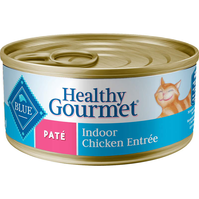 Blue Buffalo Healthy Gourmet Pate Indoor Chicken Entree for Cats 5.5 oz. I006758