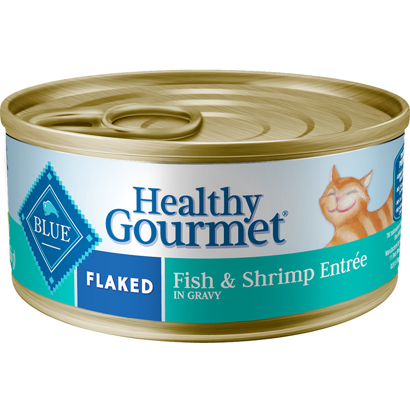 Blue Buffalo Healthy Gourmet Flacked Fish & Shrimp Entree for Cats 5.5 oz. I006760