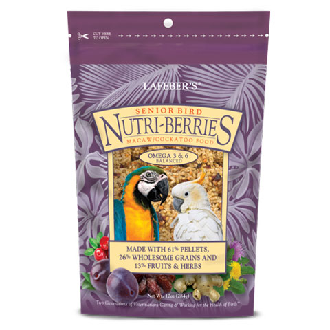 Senior Bird Nutri-Berries for Macaw & Cockatoo 10oz. I007227