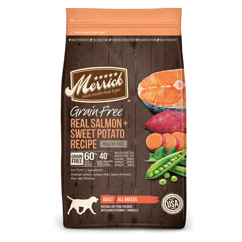 Merrick Grain Free Real Salmon + Sweet Potato Dry Dog Food I007314b