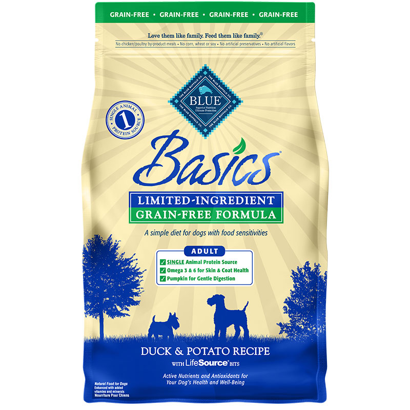 Blue Buffalo BLUE Basics Grain-Free Duck & Potato Dog Food I007540b
