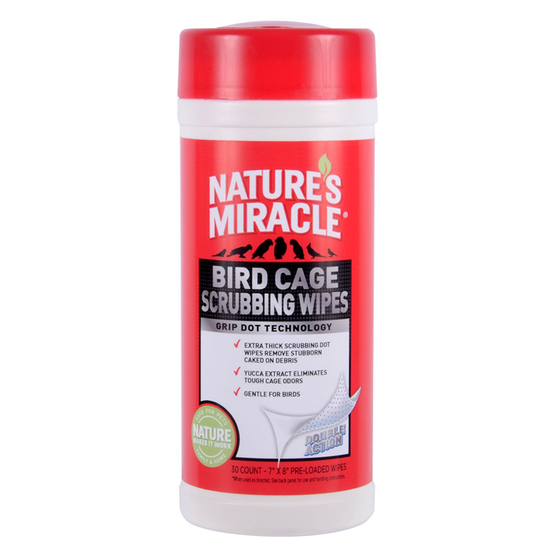 Nature's Miracle® Bird Cage Scrubbing Wipes 30 Count I007607