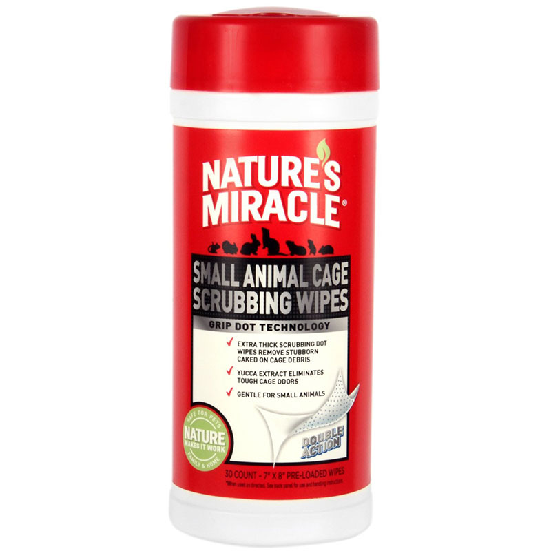 Nature's Miracle® Small Animal Cage Scrubbing Wipes 30 ct. I007608