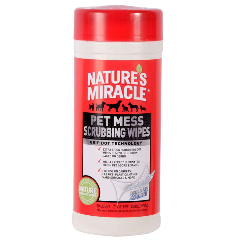 Natures Miracle® Pet Mess Scrubbing Wipes 30 Count I007610