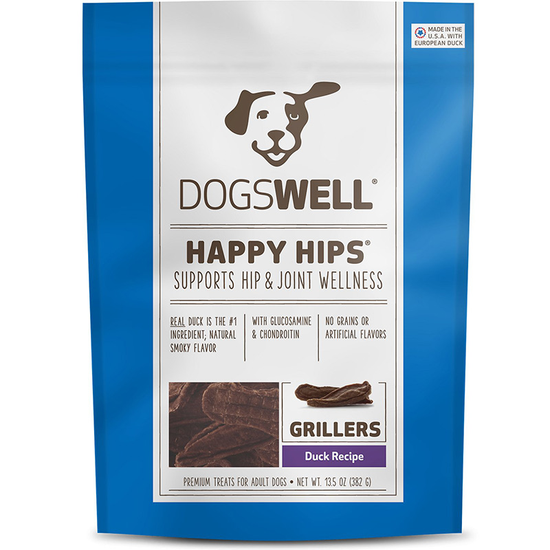 Dogswell Happy Hips Grillers Duck Jerky Treat 13.5 oz. I007657
