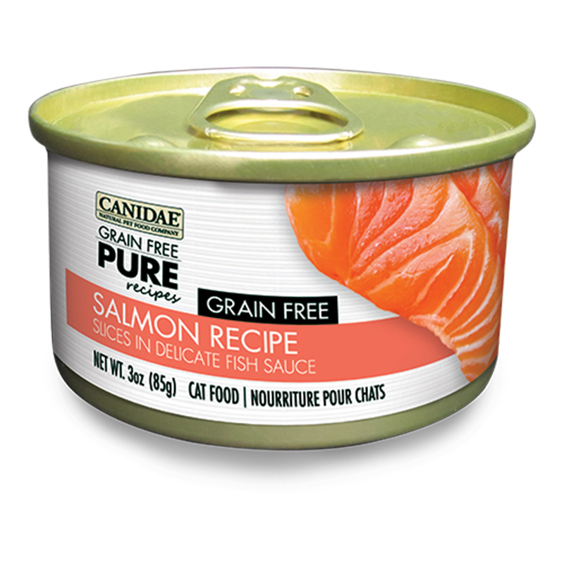 Canidae Grain Free Pure Salmon Wet Cat Food 3oz.