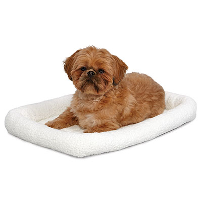 MidWest® Quiet Time™ Fleece Bed for Plastic Carrier I008190b