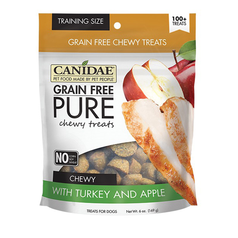 CANIDAE® Grain Free PURE Chewy Training Treats with Turkey & Apple 6 oz. I008360