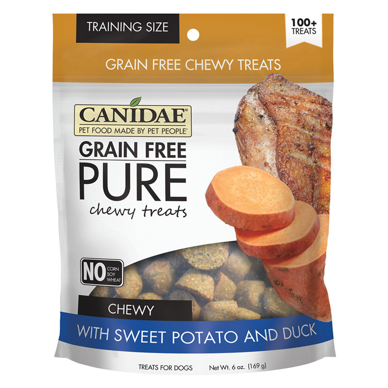 CANIDAE® Grain Free PURE Chewy Training Treats with Sweet Potato & Duck 6 oz. I008362