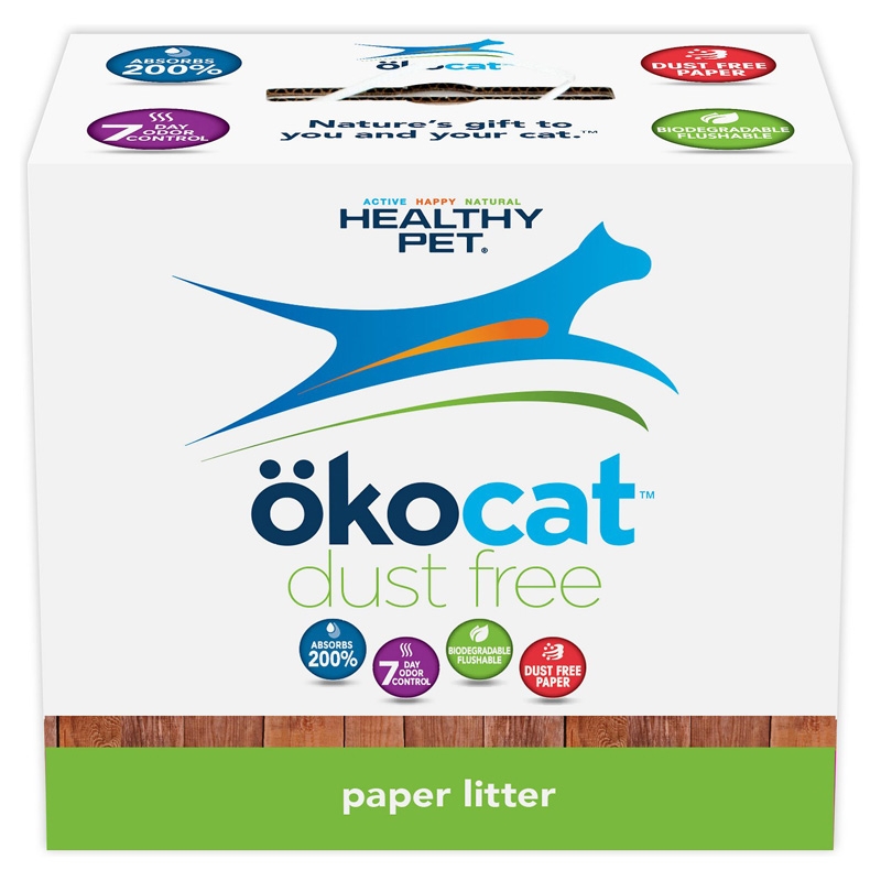 Okocat Natural Paper Dust Free Cat Litter  I008404b