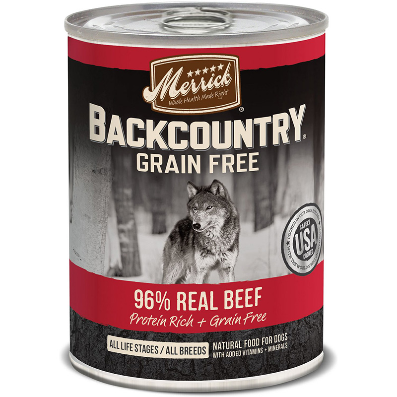 Merrick Backcountry Grain Free 96% Real Beef 12.7oz I008412