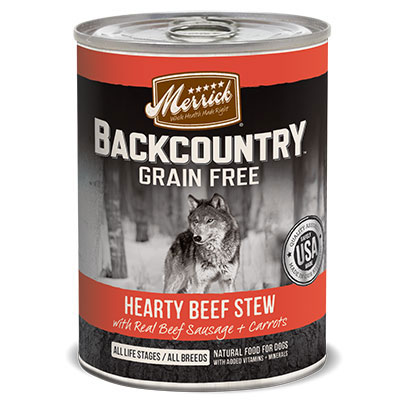 Merrick® Backcountry™ Hearty Beef Stew Dog Food Can 12.7 Oz.  I008416
