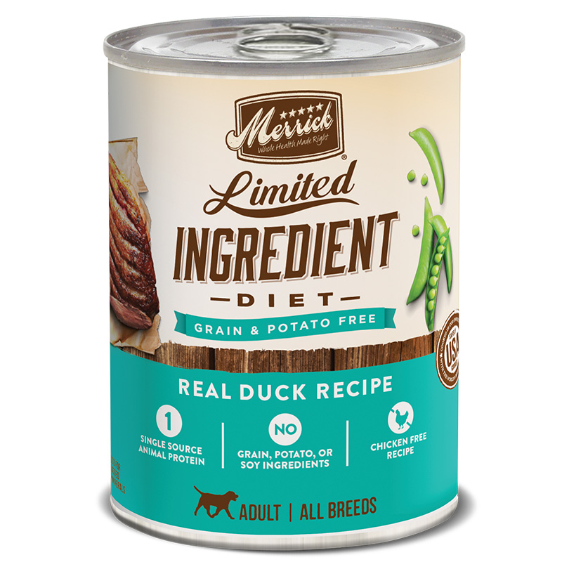 Merrick® Limited Ingredient Diet Real Duck Recipe Dog Food 12.7 Oz.  I008447