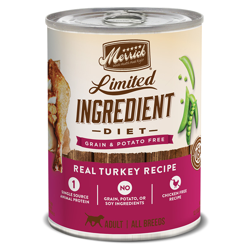 Merrick® Limited Ingredient Diet Real Turkey Recipe Dog Food 12.7 Oz.  I008448