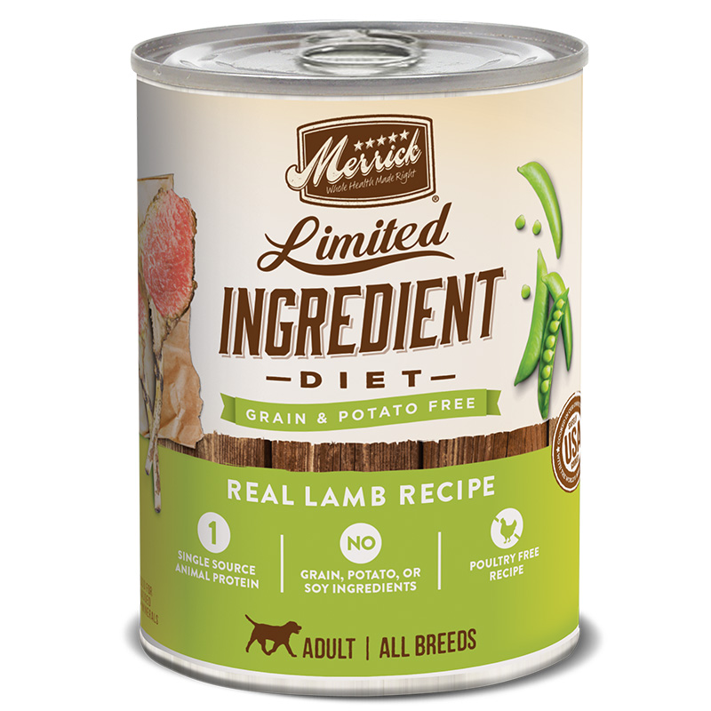 Merrick® Limited Ingredient Diet Real Lamb Recipe Dog Food 12.7 Oz.  I008449