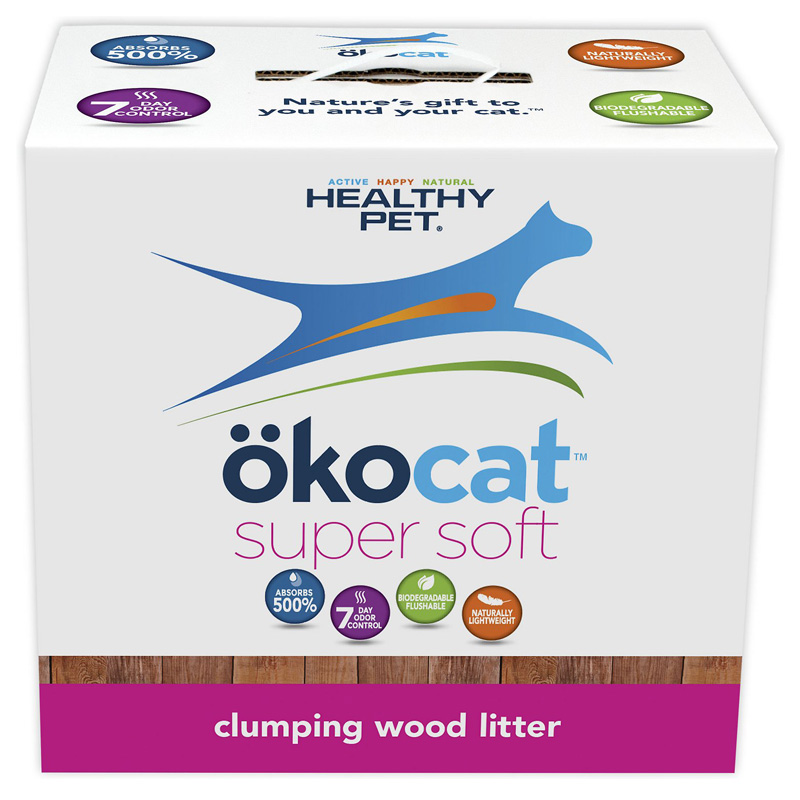 Okocat Super Soft Clumping Wood Cat Litter  I008465b