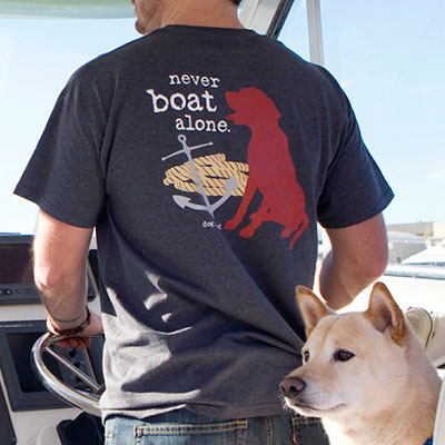 Dog is Good® Never Boat Alone Unisex T-Shirt I008800b