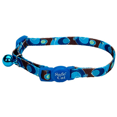 Coastal® Safe Cat Fashion Adjustable Breakaway Collar Blue Swirl I008833