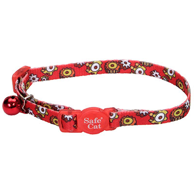Coastal® Safe Cat Fashion Adjustable Breakaway Collar Red Gears I008838