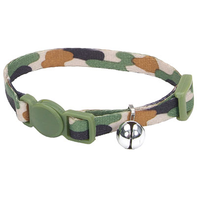 Coastal® Li'l Pals® Adjustable Breakaway Kitten Collar Camo Brown I008841