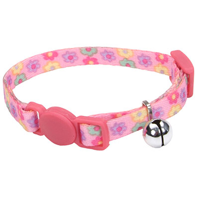 Coastal® Li'l Pals® Adjustable Breakaway Kitten Collar Daisies Multicolor I008842