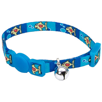 Coastal® Li'l Pals® Adjustable Breakaway Kitten Collar Fish with Bubbles I008843