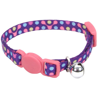 Coastal® Li'l Pals® Adjustable Breakaway Kitten Collar Purple Gear I008845