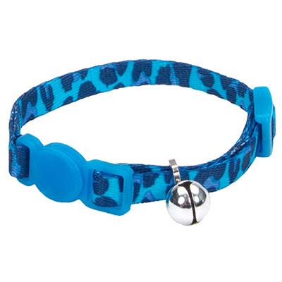 Coastal® Li'l Pals® Adjustable Breakaway Kitten Collar Blue Leopard I008846