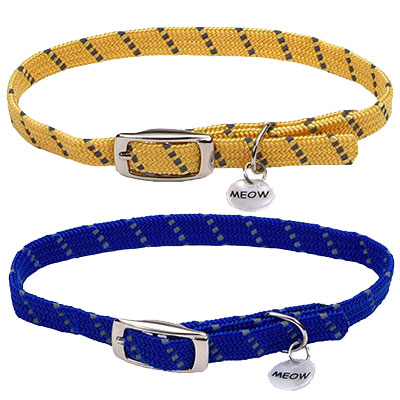 Coastal® ElastaCat® Reflective Safety Stretch Collar with Reflective Charm I008875b