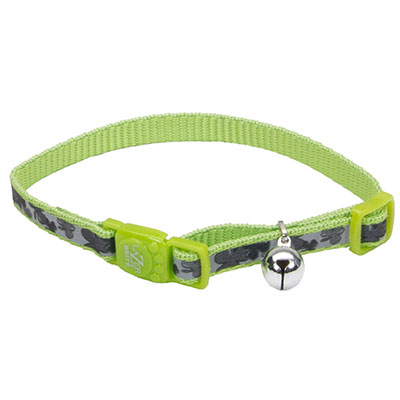 Coastal® Lazer Brite® Reflective Adjustable Breakaway Cat Collar Shamrocks  I008888
