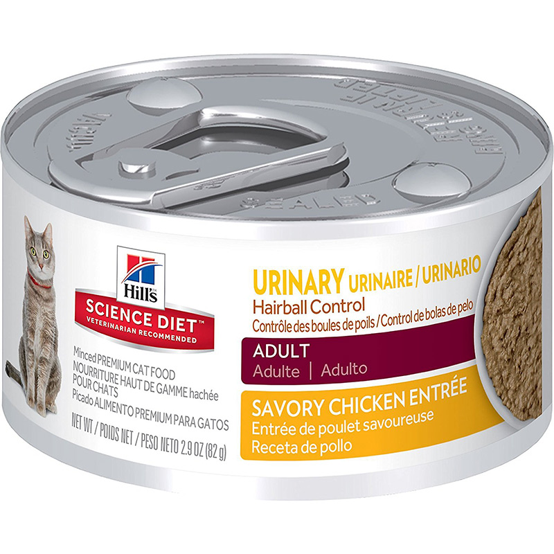 Hill's Science Diet Adult Urinary Hairball Control Can Cat Food 2.9 oz. I009080