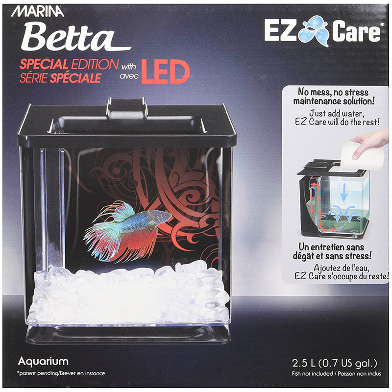 Marina Betta Special Edition EZ Care LED Aquarium Black I009100
