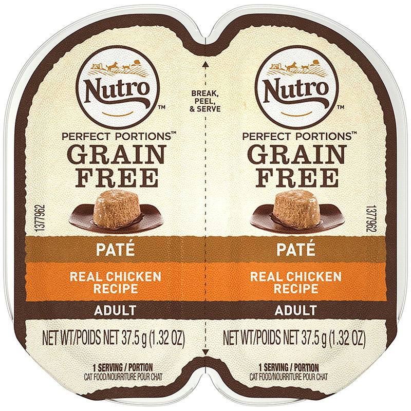 Nutro Perfect Portions Chicken Cat Food Pate Tray 2.65 oz. I009783