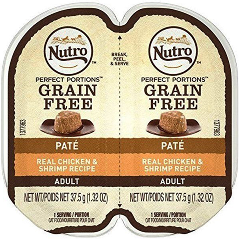 Nutro Perfect Portions Chicken & Shrimp Cat Food Pate Tray 2.65 oz. I009784