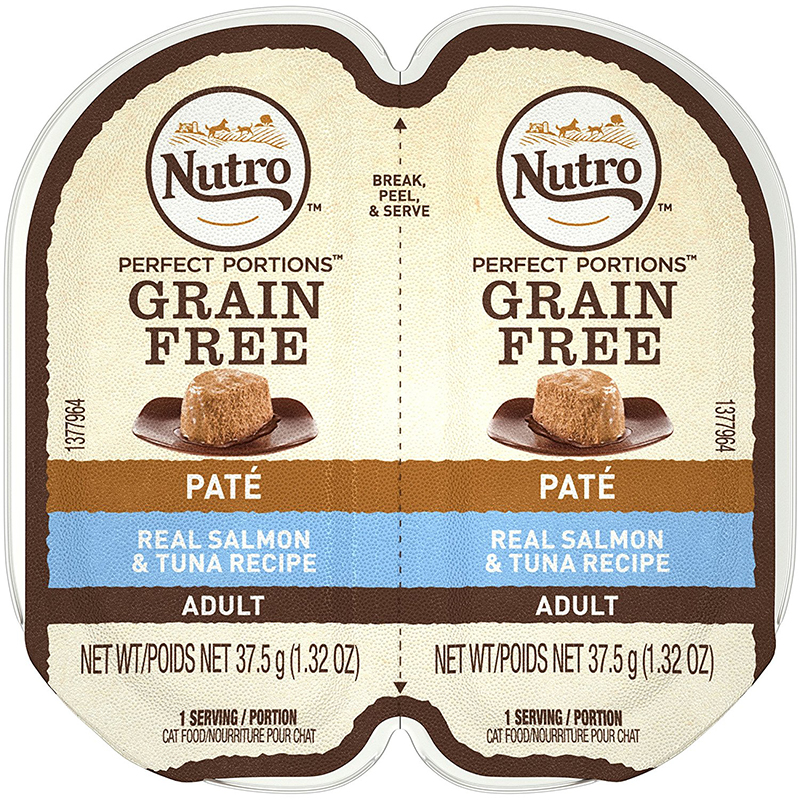 Nutro Perfect Portions Real Salmon & Tuna Cat Food Pate Tray 2.65 oz. I009785