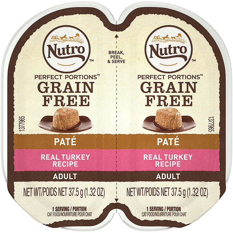 Nutro Perfect Portions Turkey Cat Food Pate Tray 2.65 oz. I009786
