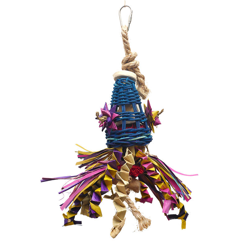 A&E Cage Company Java® Wood Happy Beaks Squiddy Bird Toy Small I009833