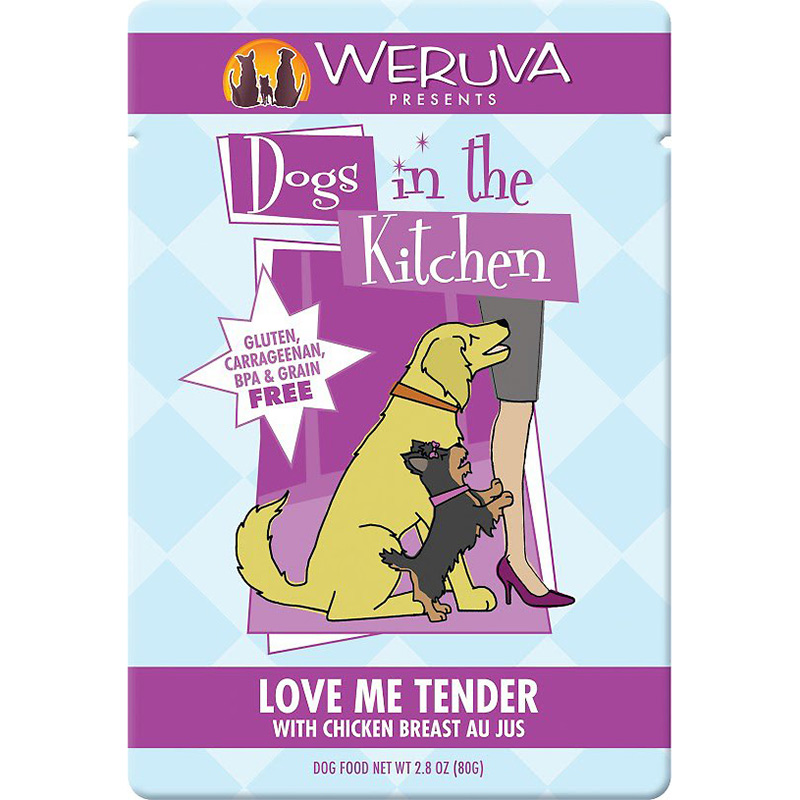 Dog In The Kitchen Love Me Tendr Chicken Breast Au Jus Pouch 2.8oz I010080