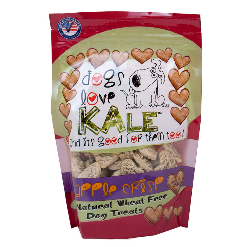 dogs love KALE™ Apple Crisp All Natural Wheat Free Dog Treats 6 oz. I010095
