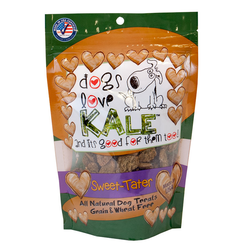 dogs love KALE™ Sweet Tater' All Natural Grain & Wheat Free Dog Treats 6 oz. I010097