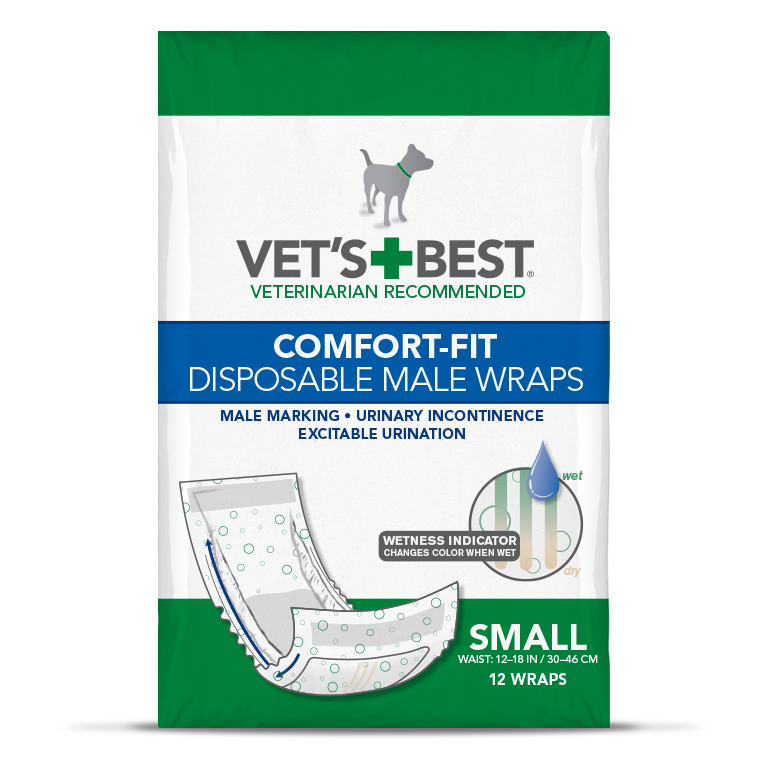 Vets+Best® Comfort-Fit Disposable Male Wraps 12 Pack I010282b